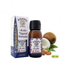 Coco 50% y Almendra. Aceite portador y facial, Cosmética natural, Ágave